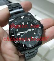 schwarze armbänder der männer großhandel-.Luxus-UHREN Kasten-Schwarz-keramische Vorwahlknopf-Vorwahlknopf-Vorwahlknopf-Edelstahl-Armband-automatische Mens-Uhr-Uhr-Mann-Armbanduhr 44 Millimeter-Saphir