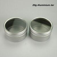 Wholesale empty lip balm metal tins for sale - Group buy 20g Aluminum Cream Jar Pot Nail Art Makeup Lip Gloss Empty Cosmetic Metal Tin Containers Lip Balm Bottle F20173092