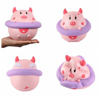 Wholesale wholesales swim rings - Squishy Swim Ring Pig Toy Squeeze Slow Rising Pig Decompression kids Toy Home Decoration Phone Charms Kids Gift Toys GGA62