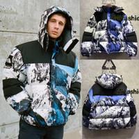 Wholesale Down Coat Europe - Europe Box Logo Snow Mountain Collab Windproof jacket 17AW Warm Down Parkas Jacket Coat