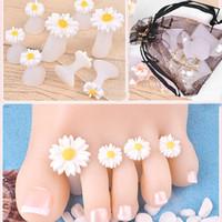 protetores de toe de silicone venda por atacado-8 pçs / set Silicone Toe Separador Manicure Ferramenta Dedo Do Pé Do Divisor de Silicone Protetor de Dedo Prego Dicas de Salão de Beleza Polonês Pedicure