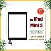 mini botão home do ipad venda por atacado-Vidro Para iPad Mini 3 Tela de Substituição Frontal Telas de Toque Digitador com Conector IC e Home Button Suporte Da Câmera Adesiva