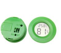 hygromètre de température achat en gros de-Hygromètre circulaire Electronique Embedded Température et Humidité Compteur Décorer Pmma Boîte Animaux Rampants Prévisions Météo Thermomètre 7yn ii
