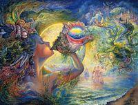 hada de la pintura al óleo de la lona al por mayor-Josephine Wall Fantasy Art Fairy Conch Sound, reproducción de pintura al óleo de alta calidad Impresión en lienzo Modern Home Home Decor E326