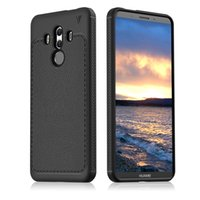Wholesale case mate phone - For Huawei Mate 10 Pro Case Luxury Litchi Grain soft TPU Silicone Back Cover Phone Cases oneplus 5T Pixel2 honor 7x ETC.