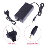 power tv lcd al por mayor-ASIGNADO 19V 2.1A AC a DC Convertidor de adaptador de energía 6.5-6.0 * 4.4mm para el suministro del monitor LG Enchufe de la UE o los Estados Unidos para TV LCD Navegación GPS