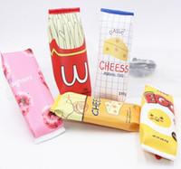 cajas de galletas al por mayor-Popular envasado de alimentos kawaii Macaron Cookie caja de lápices de cuero de LA PU bolsa de lápiz escolar para chica papelería estojo escolar material escolar