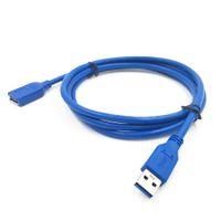 usb kablo mavi toptan satış-Mavi USB 3.0 Uzatma Kablosu A Erkek Veri Senk Genişletici Kablo kablosu M / F