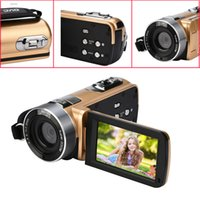 "Wholesale Full Hd Professional Video Camera - Infrared Night Vision Remote Control Handy Camera HD 1080P 24MP 18X Digital Zoom Video Camera DVwith 3.0""LCD Screen DEYIOU"