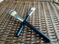 Wholesale Facial Hair Brushes - Hot Sale Makeup Brushes M190 Flat Brush #190 Professional Foundation Blush Brush Powder Concealer Contour Facial Brushes Wooden handle