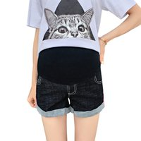 Wholesale free clothing for pregnant women resale online - Maternity Jeans For Pregnant Women Pregnancy summer cool short Pants Maternity Clothes For Nursing shorts Trousers