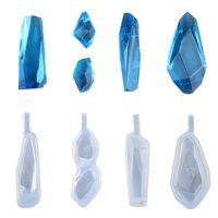 ingrosso pietre di resina diy-Ciondolo in pietra irregolare Stampo in silicone per stampi in silicone Stampi per gioielli fatti a mano fai da te Stampi trasparenti Superficie taglio gemma