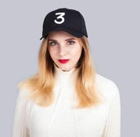 ball red book Australia - Free shipping Chance 3 the rapper caps Streetwear kanye west dad cap letter Baseball Cap coloring Book 6 panel Yeezus god hats for men women