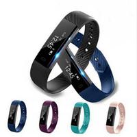 спортивные наручные часы оптовых-2018 лучшие продажи фитнес-трекер браслет ID 115 смарт-браслет вибрационный larm часы Smart Band фитнес-часы Smartband для xiaomi fitbit