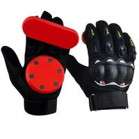 guantes deslizantes al por mayor-One Pair Long Vigor Highway Monopatín Slide Brake Gloves con Flint Slider Wear-resisting para Drift Dancing Trick Un tamaño Se adapta
