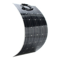 Wholesale solar panel for sale - SP V W mm Semi Flexible Solar Panel With m CableOEM full certified china supplier high efficiency flexible solar