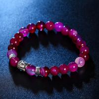 европейские предохранители оптовых-YimYik новая мода взрывоопасные браслеты ювелирные изделия ручной работы Европейский и американский стиль сплавленный рок натуральный камень Браслет для женщин