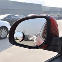 rückspiegel blinde flecken großhandel-1 PCS Auto 360 Weitwinkel Runde Convex Spiegel Auto Fahrzeug Seite Blindspot Blind Spot Spiegel Breite RearView Spiegel