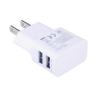 enchufe de corriente 5v 2a al por mayor-Universal Dual USB US plug 5V 2A Wall Travel Power Charger Adapter para iPhone4 5 5S 7 6 6S plus para Samsung Galaxy Phone Charger