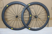 Wholesale bicycle decals - Twill weave grey decal mavic cosmic SL Carbon Wheel 50mm Clincher 25mm width 700C road bike carbon wheelset 3K T1000 bicycle wheels Clincher