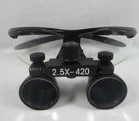 Wholesale dental loupe lights - Dental Loupes Surgical Binocular Loupe Magnifying Glasses 3.5x420mm 2.5x420mm Light Head