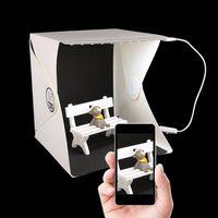 Wholesale 22cm Mini Photo Studio Box Photography Backdrop Built in Portable Softbox Little Items Photography backdrops Box Foldable Lighting Tent Kit