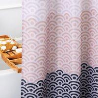tecidos florais para cortinas venda por atacado-Europa Aimjerry Mais Longo Rosa Banheira banheiro Cortina de Chuveiro Tecido Liner com 12 Ganchos 72 W x 80 H polegadas À Prova D 'Água e Mildewproof