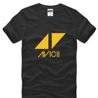 Wholesale Dj Clothing - Rock Band Avicii Printed T Shirts Men New Short Sleeve O Neck Cotton Men's T Shirt Tim Bergling DJ Tee Shirt Homme Fans Clothing