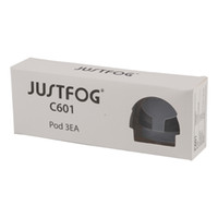 pacote de recarga venda por atacado-3 unidades / pacote 100% Original Justfog C601 pod 1.7 ml capacidade top recarga do cartucho do cartucho construído em 1.6ohm bobina para justfog C601 starter kit