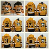 sidney jersey al por mayor-Venta al por mayor Sudaderas clásicas de invierno Jersey 81 Phil Kessel 87 Sidney Crosby 71 Evgeni Malkin Sudaderas Hockey Jerséis