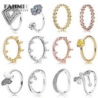 Wholesale geometric rings for sale - FAHMI Silver Elegant Wave Butterfly Shiny Drops K Gold Magic Crown Women Ring GEOMETRIC LINE GLORIOUS BLOOMS RING