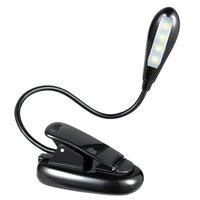 светодиодный фонарь для чтения оптовых-Гибкий портативный 4 LED клип клип музыка стенд книга свет лампы читальный зал спальня для Kindle ноутбук PC DHL FEDEX EMS бесплатная доставка