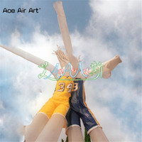 Wholesale usa player resale online - Attactive design Inflatable double legs air dancer air baseball player air basketball player wind advertising dancers for USA