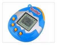 plastique virtuel achat en gros de-Virtual Cyber Digital Pet Game Jouet Tamagotchis Digital E-Pet électronique Cadeau de Noël avec bouton Batterie en plastique