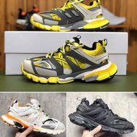 pista b al por mayor-Triple S Clunky Sneaker Fashion Track Shoes Newest Release 3 Tess Gomma Maille Trek Shoes For Men Women