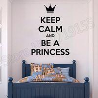 prinzessin wandaufkleber großhandel-Zitat Prinzessin Lady Woman Girl Zimmer Aufkleber Wandbild Mädchen Zimmer Aufkleber Mode personalisierte Wand Aufkleber Wand Zitate Dekor ZW38