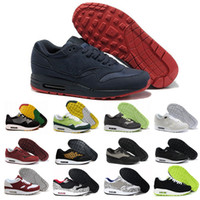 Wholesale Shoes Mans Air 87 - Wholesale AIR 1 PREMIUM SC JEWEL Shoes White Black 918354-103 White Red 918354-104 Atmos What The 910772-001 Master of Air 87 Size40-46