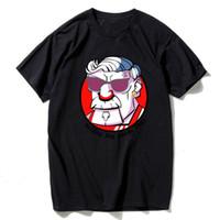 Wholesale funny tshirts men - Cool Funny Tshirt Men Harajuku Anime Supreman Elephant Print Tee Shirt Casual Short Sleeve Cotton Tshirts For Men White T-Shirt Tops ZZS2930