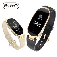Wholesale Heart Rate Woman - Women Smart Watch Fitness Tracker Bracelet Heart Rate Monitor Smart Bracelet Band Gift to Lady Bluetooth For Android IOS Phone