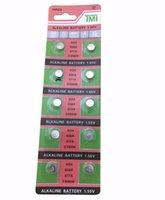 батарея lr626 оптовых-atteries батареи клетки кнопки Оптовая 10шт / много = 1cards AG4 377A 377 LR626 SR626SW SR66 LR66 клетки кнопки Часы монет батареи, TIANQIUBr ...