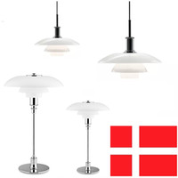 Wholesale dixon chandelier - PH 3 Pendelleuchte modern design chandelier D 28.5cm   45.5cm Poul Henningsen Louis Poulsen PH 3 2 pendant light metal Louis Poulsen