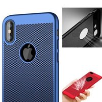 Wholesale mesh cell phone case online – custom luxury hard matte Mesh Heat Dissipation Hollow Breathable Slim Armor Hard PC Back Cover Cell phone Case For iPhone XS MAX XR X Plus