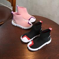 toddler walking boot großhandel-Designer Kinder Schuhe Baby Kleinkind Run Sneakers Infant Laufschuhe Kinder Jungen Mädchen Trainer Athletic Outdoor Chaussures Pour Enfants