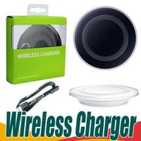 Wholesale charging pad for android resale online - Wireless Charger Pad For Samsung Galaxy S7 S6 Edge S8 S9 QI Wireless Charging Pad With Cable for iphone x android phone wtih box