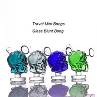 burbujeador de viaje al por mayor-Nuevo Mini Billar Bongs de vidrio Viajes Mini Water Bong El vidrio marciano Blunt Bong Bubbler Junta fumar burbuja de agua Tubería