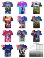 Wholesale breathable undershirt - DHL shipping Fortnite T-shirts New Men's Cool Print 3d Skull Shirts Summer Short Sleeved Breathable Tshirt Fortnite Undershirt Fitness Tops