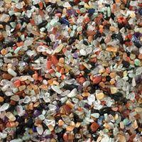 Wholesale aquarium natural - 200g Mixed rainbow Crystal Gravel Natural Rock small Raw Polished Tumbled Clastic Tank Stones For Healing Rubble Aquarium Decoration Design
