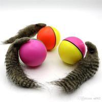 ingrosso pale elettriche-Alimentazione elettrica Beaver Ball Mouse Top Dog Baby Shower Paddle Giocattoli Pet Supplies Plastica Senza batteria Dual Color 4 4sc bb