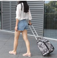 Brand Women Travel Luggage Bag Cabin travel Bag rolling luggage Case  Trolley Suitcase wheeled Bags for women Tote Duffles 375f650832ae1