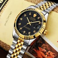 tevise роскошные мужчины оптовых-TEVISE Waterproof Semi-automatic Mechanical Watch Men  Watch Fashion  Wristwatch Luminous Sport Casual Watches